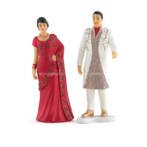 Traditional Indian Bride and Groom Wedding Figurine Cake Topper pictures & photos