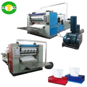 Full Auto V Folding Facial Tissue Machine, Embossing Tissue Facial Machine pictures & photos