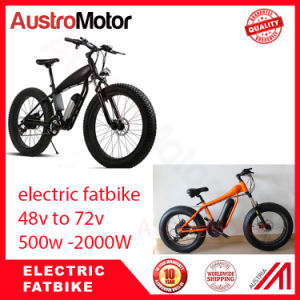 72V30ah 1500W 2000W Fat Electric Bike Electric Fat Bike with MID Motor Hub Motor pictures & photos