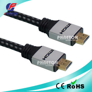 1080P Gold Heavy Metal HDMI Cable with Net (pH6-1211) pictures & photos