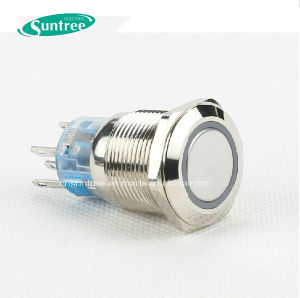 Diameter 19mm Push Button Switch Waterproof 220V pictures & photos