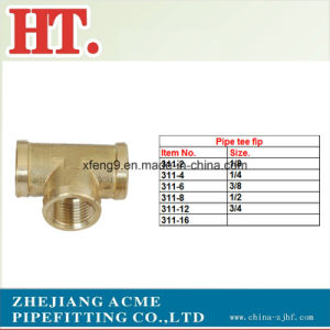 High Quality NPT Brass Pipe Fitting Female Tee pictures & photos