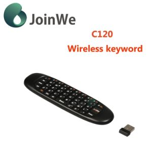Slim Rechargeable Mini Wireless Keyboard C120 Air Fly Mouse pictures & photos