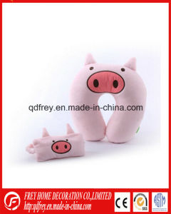 Plush Pig Toy Traveling Neck Cushion with Eye Mask pictures & photos