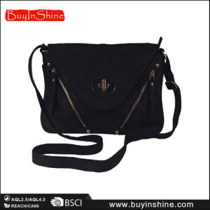 New Trend Women Double Zipper Shoulder Bag