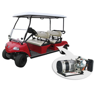 Hybrid Generator Electric Golf Carts, 4 Seats, Del3042g-H Red pictures & photos