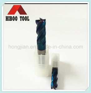 High Hardness Blue Nano Coated End Mills for Metal pictures & photos