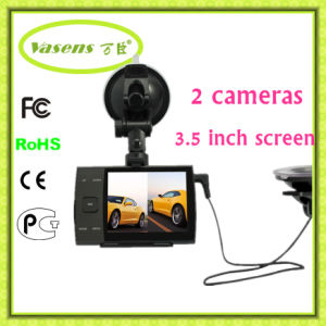 Dual Cameras Safe System Driving Data Recorder Car Camera pictures & photos