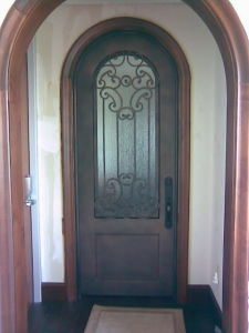Full Arch Top Iron Interior Single Door Designs Factory in China (UID-S065) pictures & photos