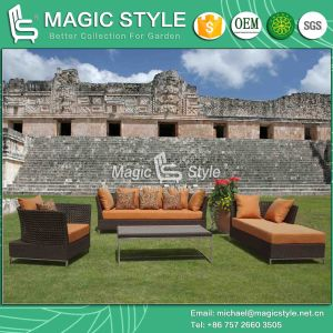 Open Weaving Sofa Rattan Sofa Wicker Sofa Sofa Set Home Sofa (Magic Style) pictures & photos