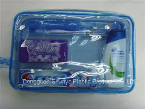 OEM Clear Zipper PVC Cosmetic Bag Make up Bag Toilet Bag pictures & photos