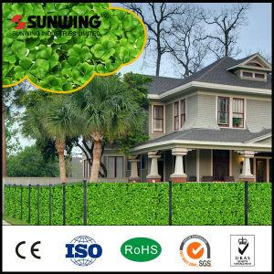 Decorative PVC Coated Artificial Levaes Hedges Plants