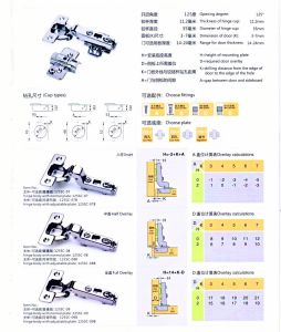 125sc-07 125 Degree Clip on Hinge Two Way Way (SLIDE ON) pictures & photos
