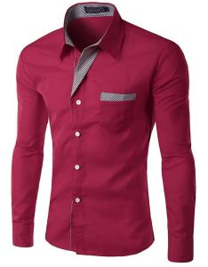 Mens Slim Fit Shirt Long Sleeve Dress Shirts (A447) pictures & photos