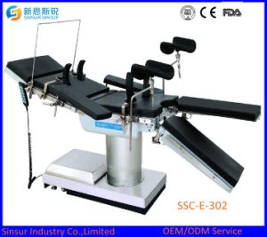 ISO/Ce Approved Fluoroscopic Hospital Surgical Equipment Electric Hydraulic Operation Table pictures & photos
