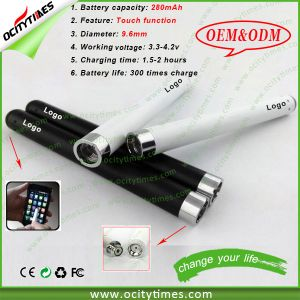 Ocitytimes 280mAh E-Cigarette Rechargeable 510 Bud Touch Battery with OEM/ODM Package pictures & photos