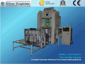 Aluminium Food Container Making Machine 80ton pictures & photos