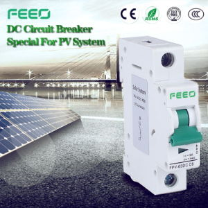 Photovoltaic Direct Current PV 2p 16A 220V Circuit Breaker Switch pictures & photos