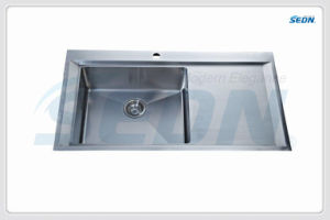 Handmade Single Bowl Stainless Steel Sinks with Drainer (SB3003) pictures & photos