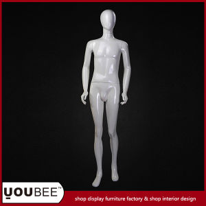 Male Fiberglass Mannequin with Egg Face in Glossy White pictures & photos