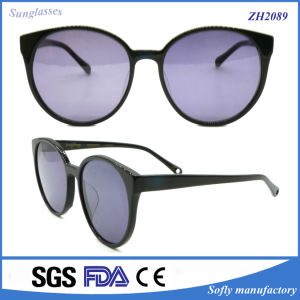 China Promotion Custom Top Fashion Black Handmade Acetate Sunglasses pictures & photos