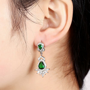 Super Flash CZ Crystal Silver Earrings pictures & photos