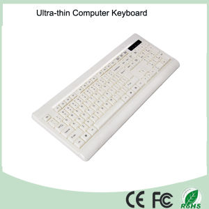 White Color Ultra-Thin 2.4GHz Mini Wireless Keyboard (KB-1802W) pictures & photos