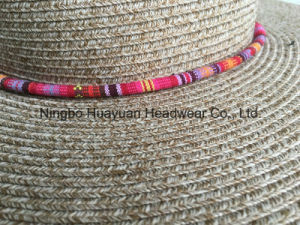 100% Polyester Sewn Braid Washable Straw Hat pictures & photos