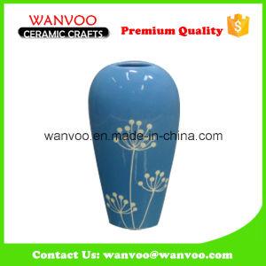 Blue Color Glaze Porcelain Flower Vase pictures & photos