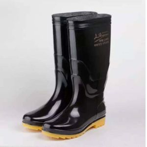 Men Industrial Waterproof PVC Footwear Work Safety Rain Boots pictures & photos