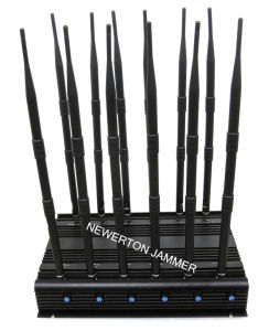 High Power Phone Signal Isolator Cellphone Signal Jammer, Signal Blocker, 12 Antennas Cell Phone Jammer, WiFi GPS RF Jammer 315MHz 433MHz pictures & photos