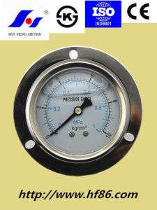 Oil Filled Pressure Gauge with Flange pictures & photos