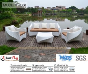 Latest White Wicker Rattan Outdoor Garden Sofa Set pictures & photos