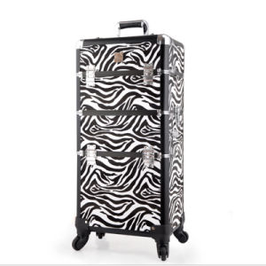 The Black White Zebra Leather Cosmetic Case (hx-q073) pictures & photos