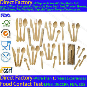 Biodegradable Disposable Cutlery Wood Eco Friendly pictures & photos