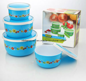 Round Food Container, Food Container Set of 4