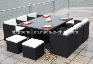 6 Cube Rattan Outdoor Dining Chair Table Garden Furniture (GN-8622D) pictures & photos