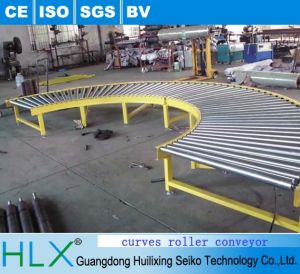 90 Degree Gravity Curved Roller Conveyor pictures & photos