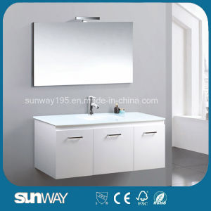 Luxury Contemporary Quality White Bathroom Cabinet with 3 Doors pictures & photos