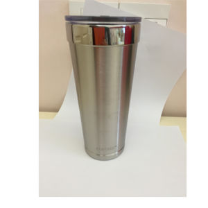 20oz Slim Double-Wall Stainless Steel Vacuum Insulated Coolers Tumbler with Straw