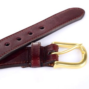 Leather Golf Belt 100%Hand Stitching Needlepoint Belt (RS-150908) pictures & photos