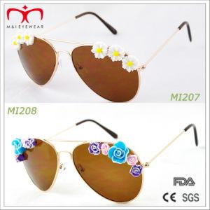 2015 Fashion Style Ladies Metal Sunglasses with Flower Decoration (MI207-MI209) pictures & photos