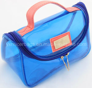 Promotional High Quality Fashion Transparent Colored Travel PVC Vinyl Cosmetic Bag pictures & photos
