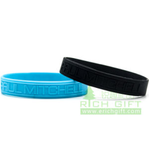 Free Samples Wholesale Nigeria Popular Embossed/Debossed Wristband pictures & photos