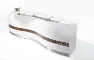 Curved Shaped Reception Table Design (HF-R026) pictures & photos