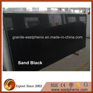 Hot Selling Artificial Sand Black Slab pictures & photos