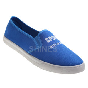 Turq Canvas Injection Slip on Shoes for Men pictures & photos