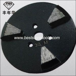 CD-19 Beveled Edge Metal Polishing Pads 3 Seg Metal Bond Grinding Disc