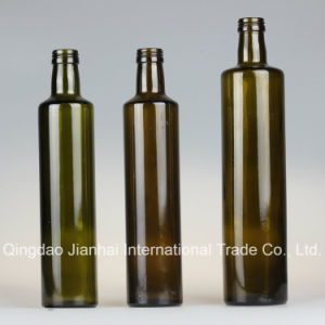 250-1000ml Round Food-Grade Glass Bottle for Oil Storage pictures & photos