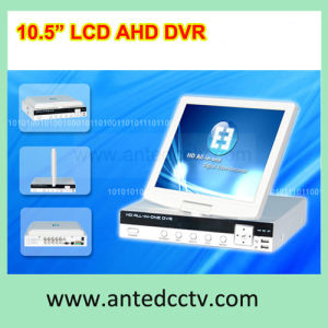 4 Channel Ahd LCD DVR Recorder, All in One DVR with 10.5 Inch TFT LCD Monitor pictures & photos